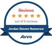 Jordan Namerow 5 Star Avvo Rating